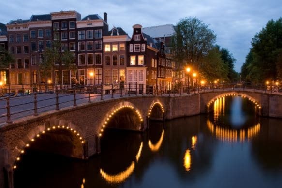 Amsterdam bridge is among the places to celebrate New Year's