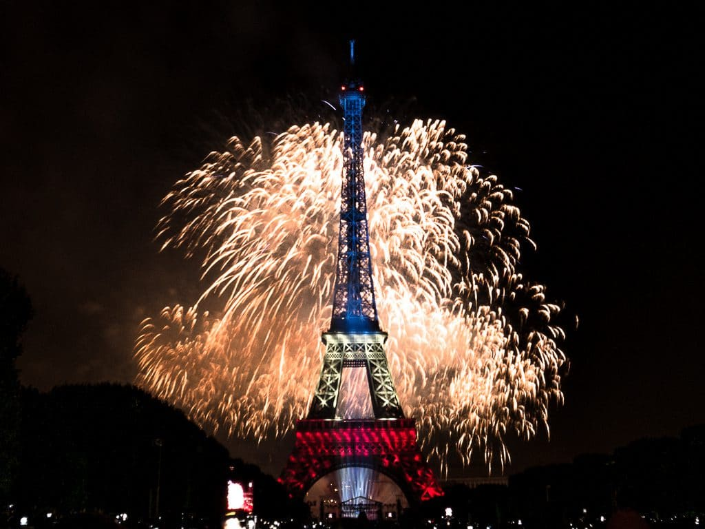 eiffel tower is one of the places to celebrate New Year's