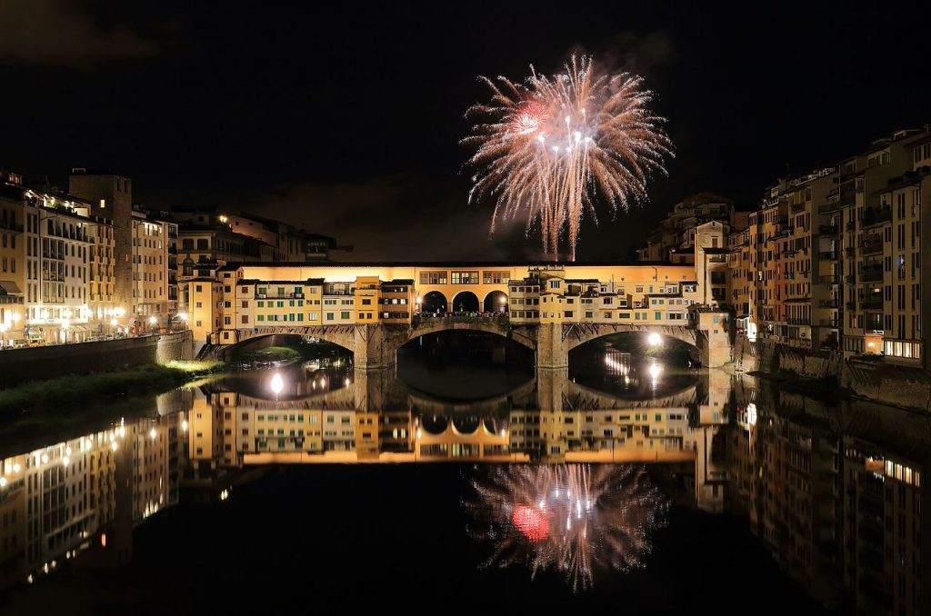 fireworks in Florence is one of the places to celebrate New Year's