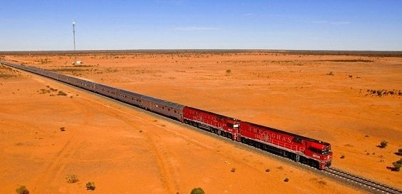 ghan longest train travel