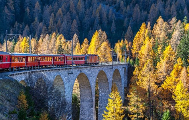 Voyages de train en Suisse