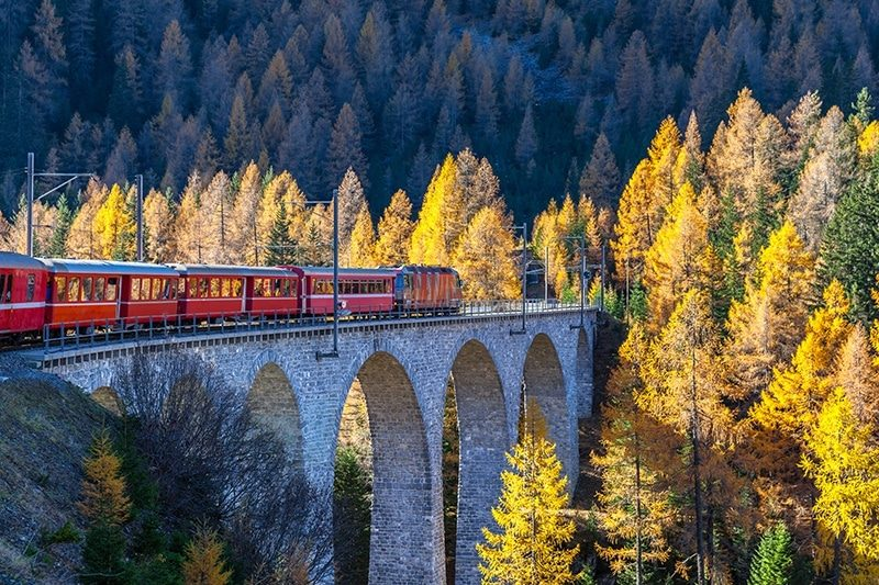 Tren biyahe sa Switzerland