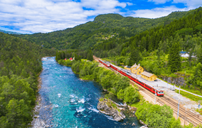 Cross Border Trains amazing scenery in Europe