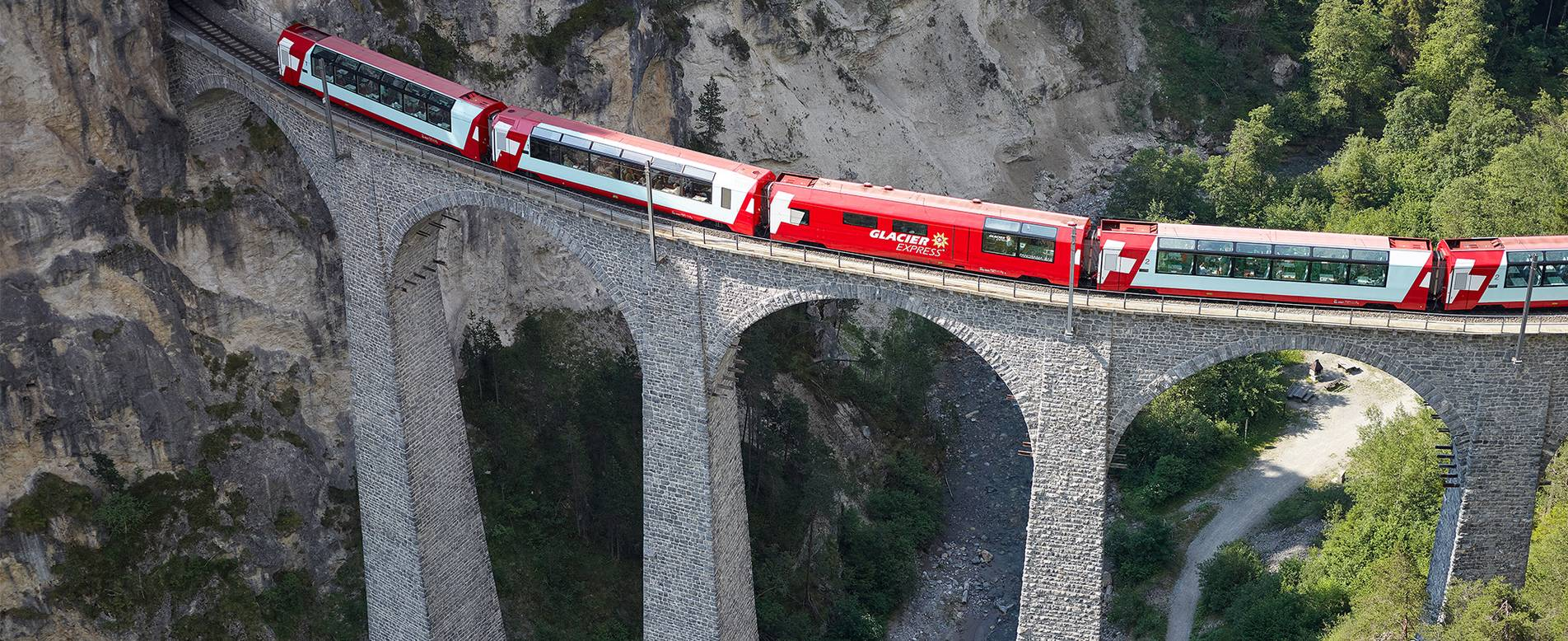 The glacier express is among The Most Scenic Train Trips in Europe