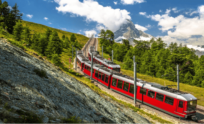 treno panoramico in Europa occidentale