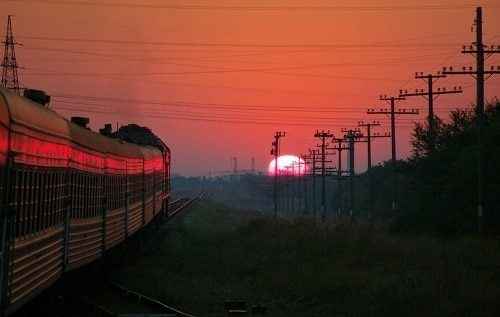 sunset journey is the best train rides in Europe