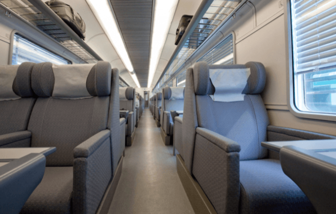 Luxurious Trains seats