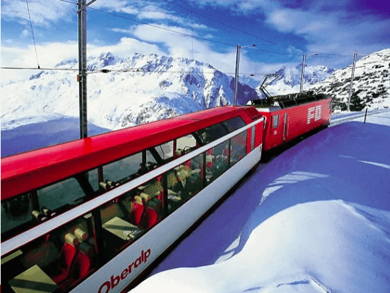 Routes Train ki te kite i te hukarere Winter i roto i Europe 1
