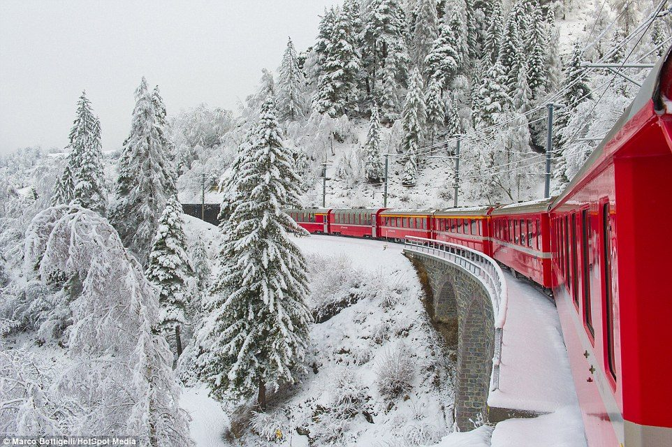 Routes Train ji bo dîtina berfê Winter li Ewropayê 2