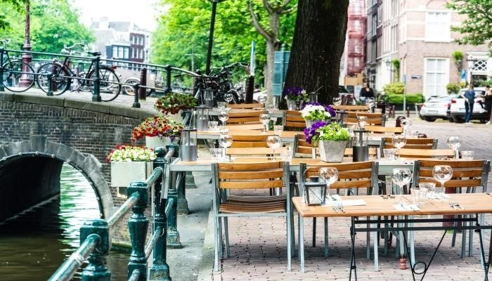 Outdoor sitting during Restaurant Week