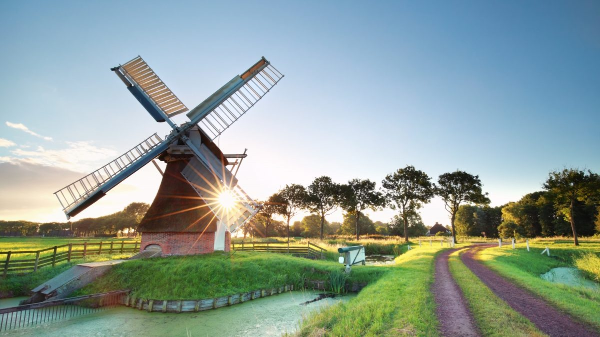 windmill in the the Netherlands