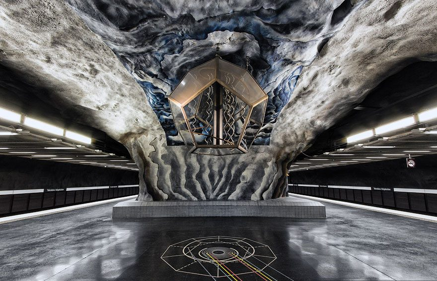 mesmerizing subway station
