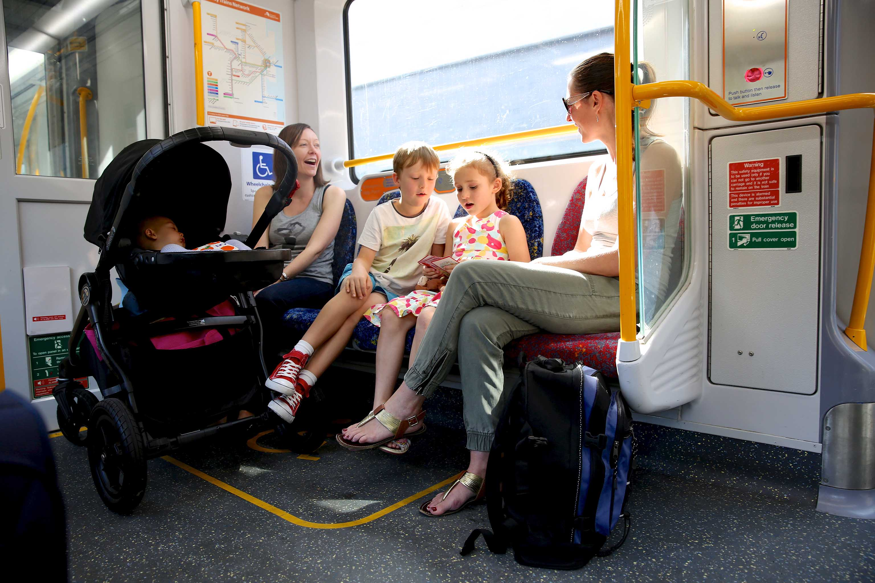 Watoto Stroller On Board A Train