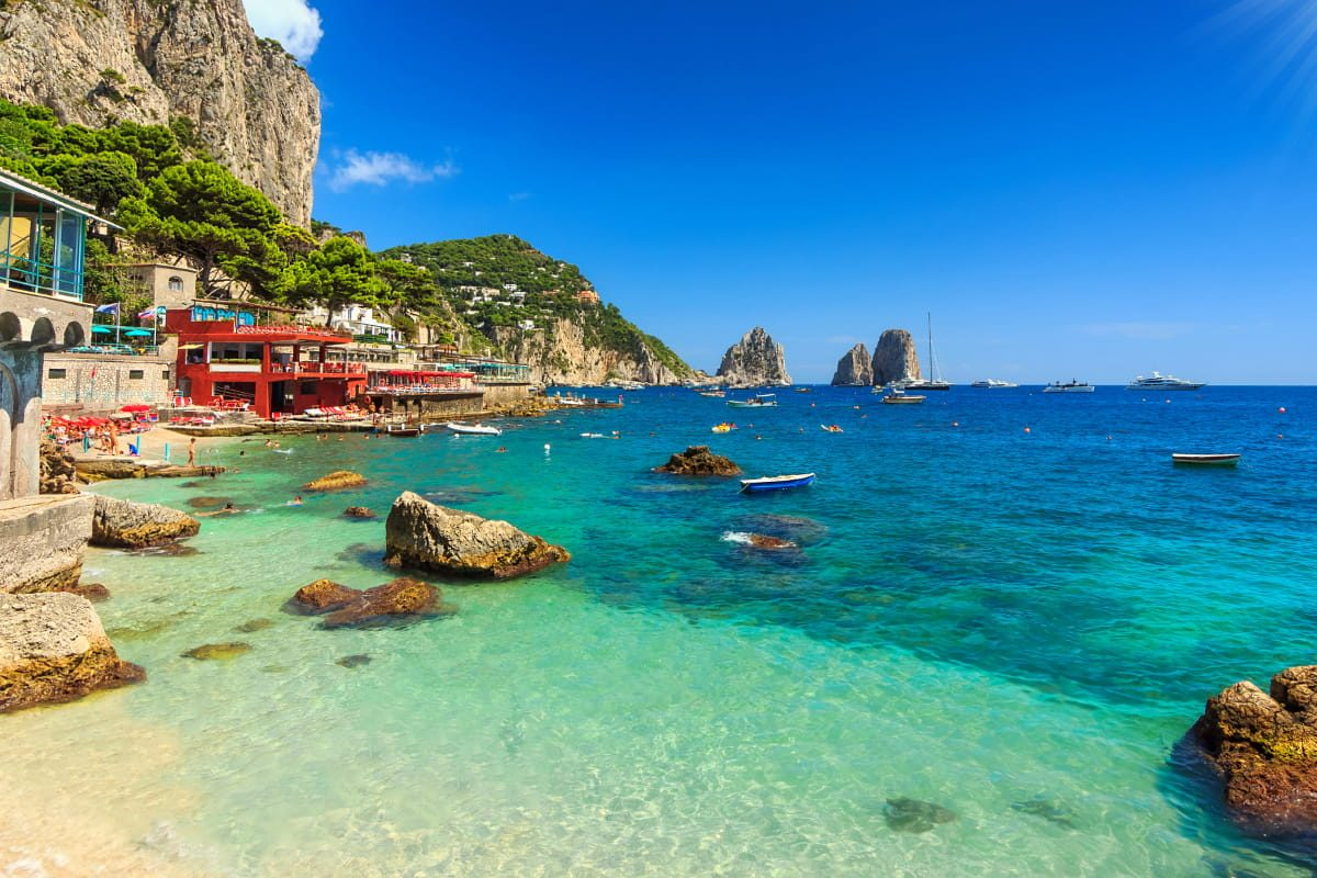 Capri is one the list of Best Places To Visit In South Italy