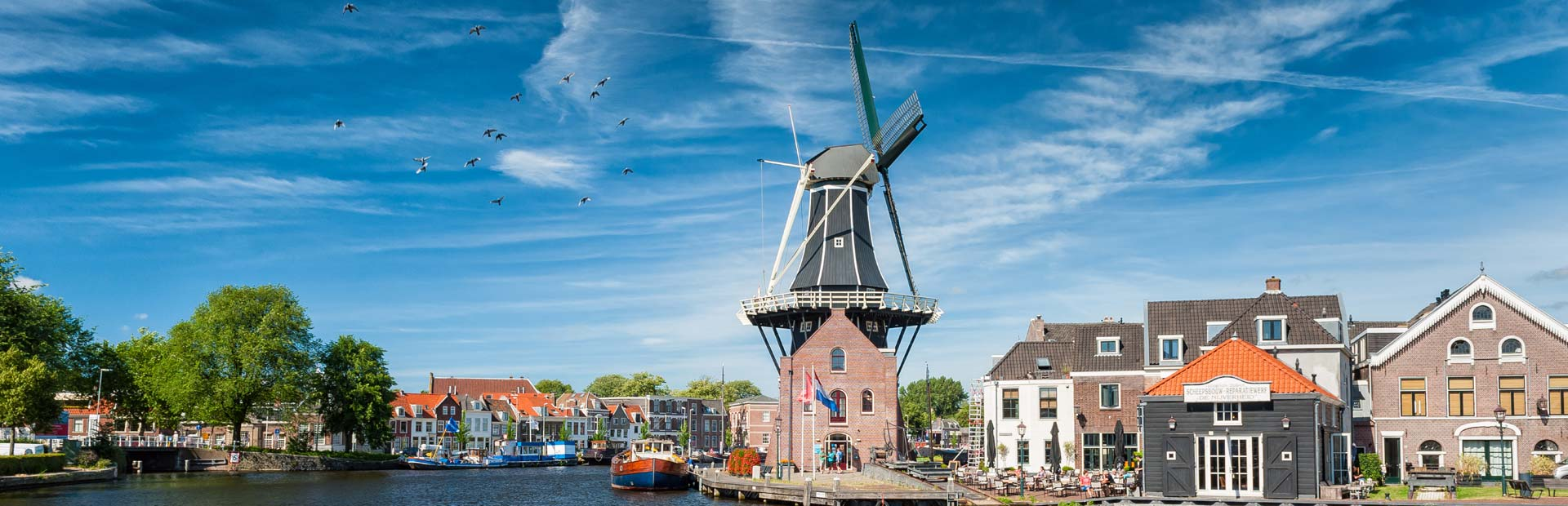Dutch Waterways and windmill