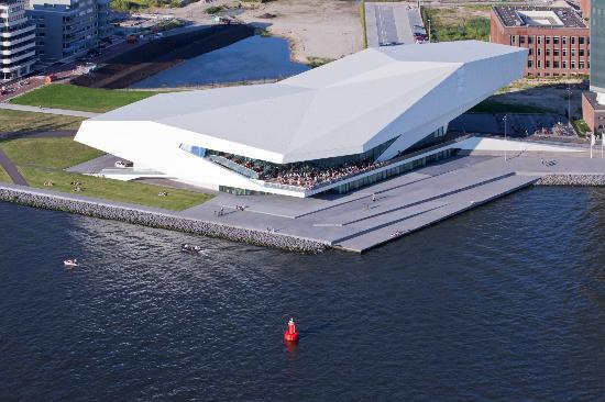 The EYE Filmmuseum Drone view Amsterdam