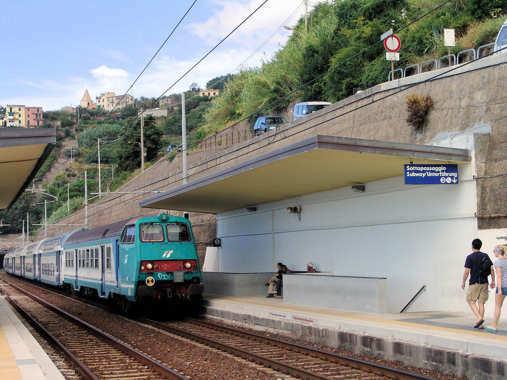 Arriving Cinque Terre by Train
