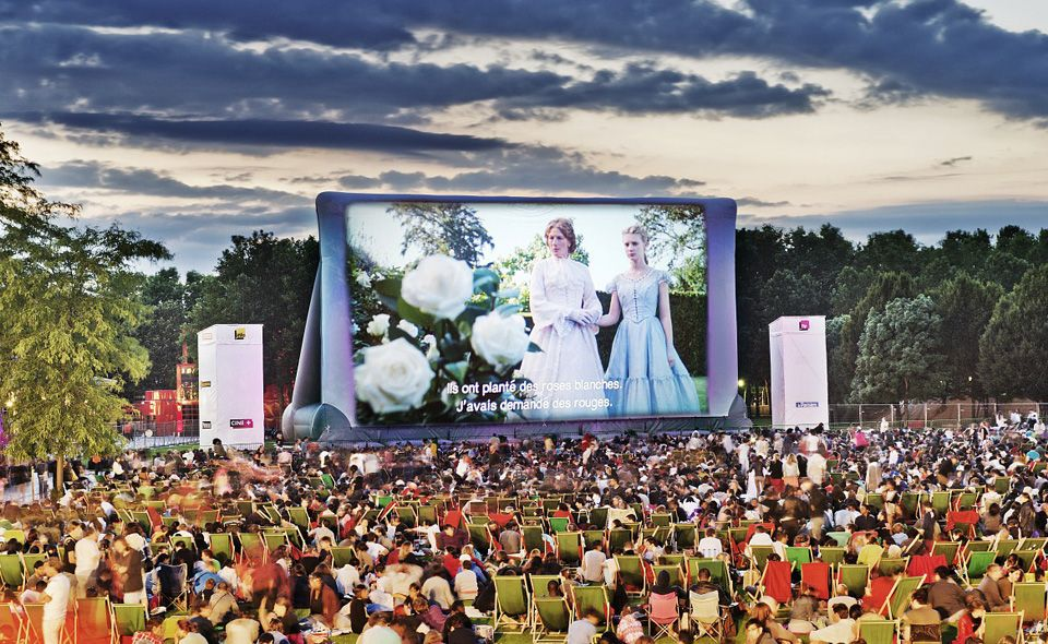 Açık Hava Sinema At The Parc de la Villette'nin