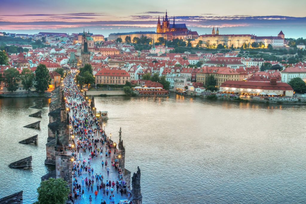 Prague city scape