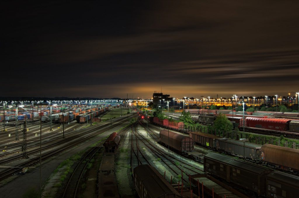 trains at night