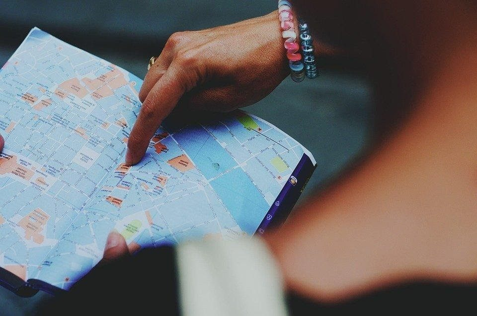 plan a trip with a map
