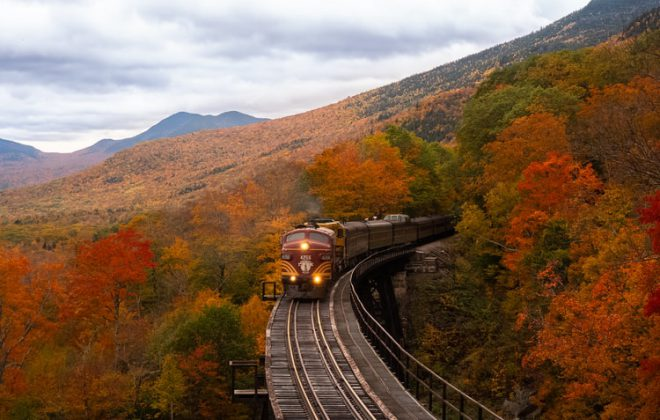 train travel in the fall