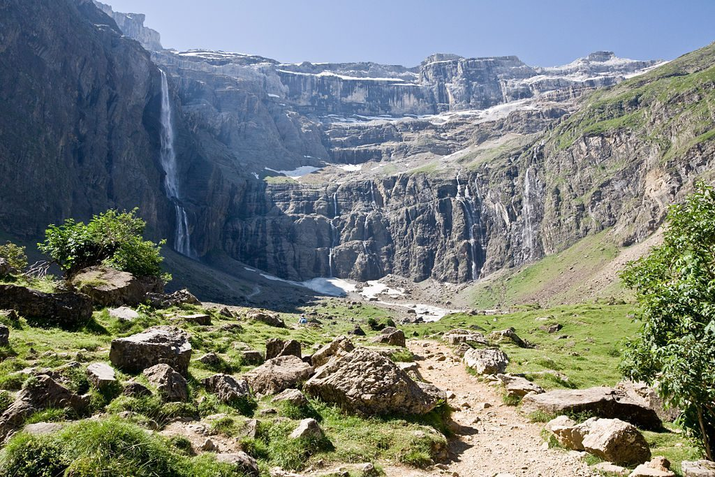 Gavarnie, France waterfall