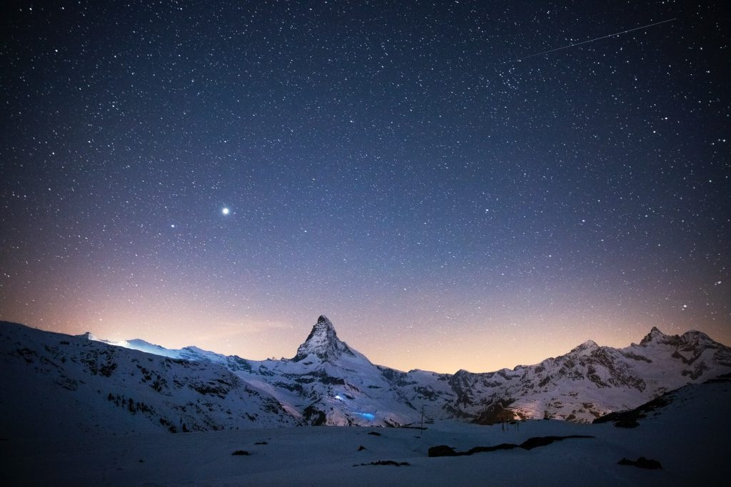 The sky above Matterhorn is a natural wonder of Italy