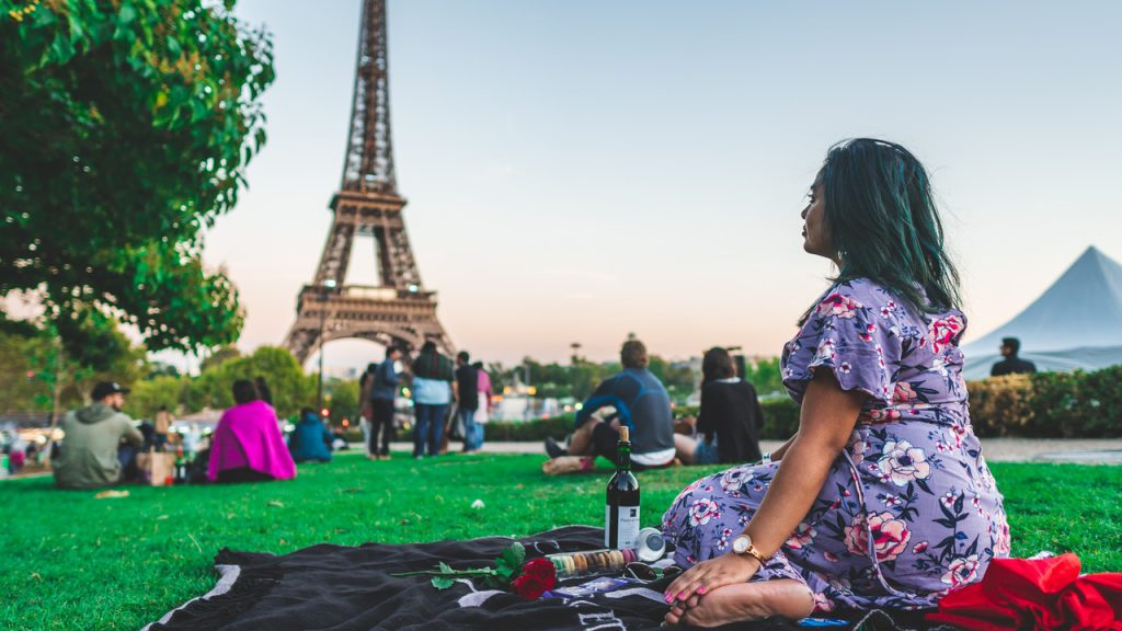 Picnic In Champs De Mars Paris