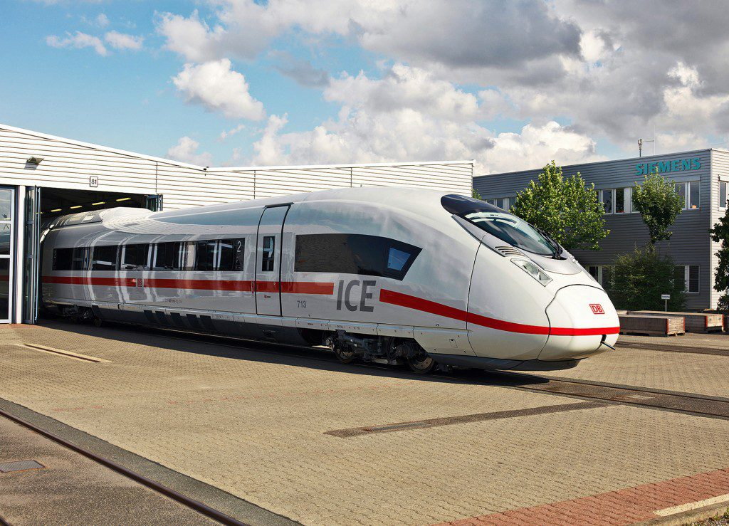new ICE train come out of siemens factory