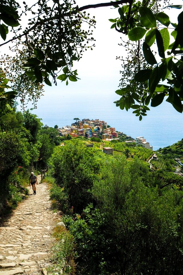 Cinque Terre, Italy trail to the sea