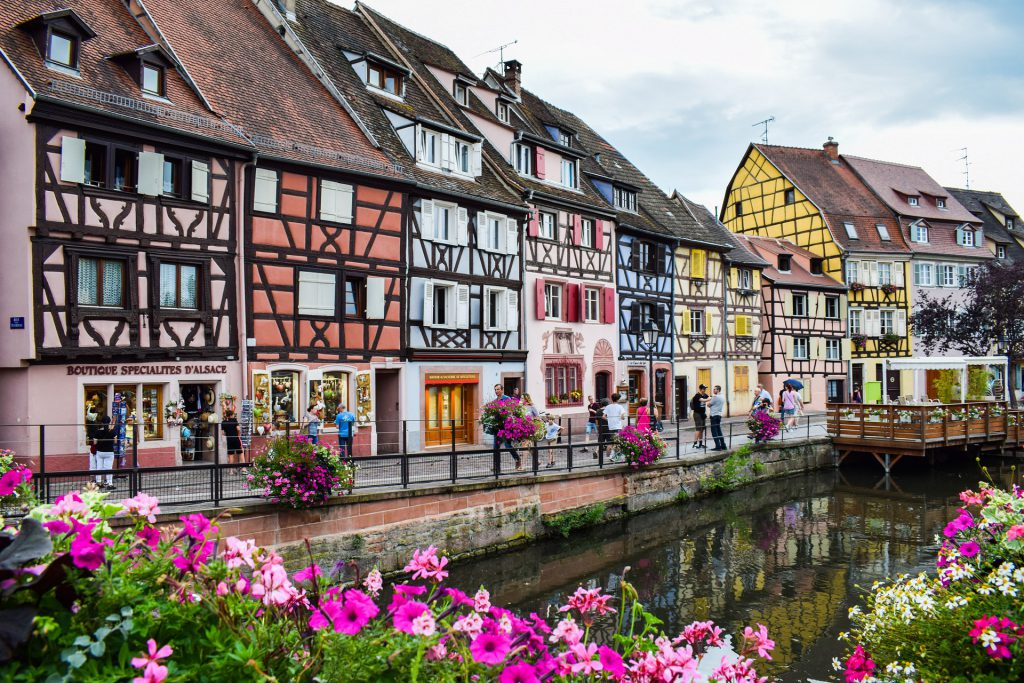 bautiful and charming old city center of colmar