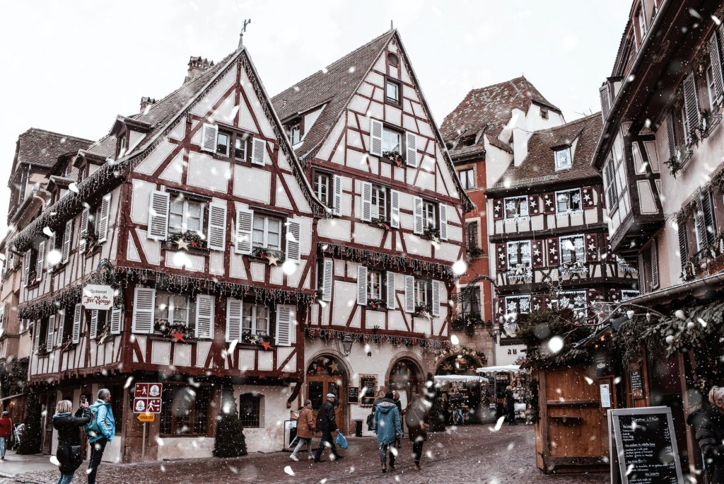 colmar old city center in the winter