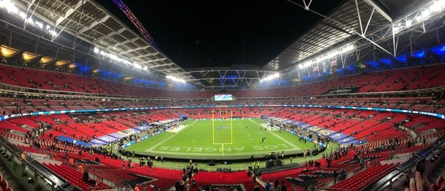 Panoramic iwo ti Wembley Football Stadium ni England