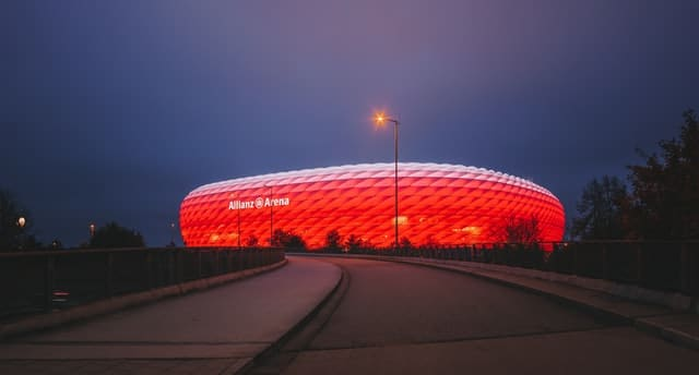Allianz Arena: Munich, Germania nocte
