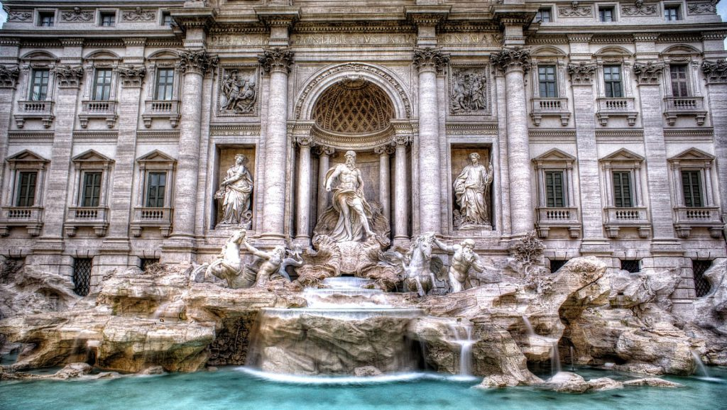 Trevi Fountain is one of the Most Beautiful Fountains In Rome and Italy