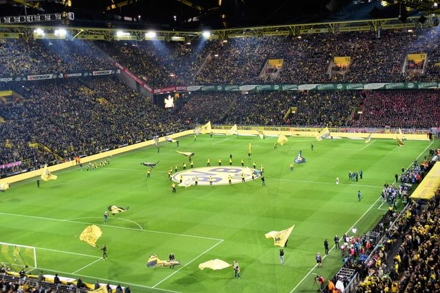 Football Stadium in Dortmund Game opening