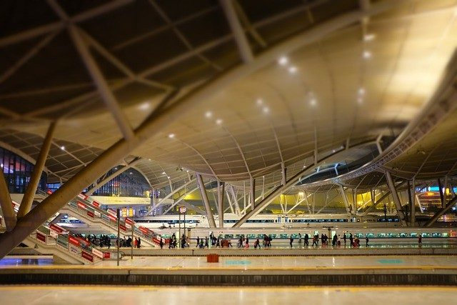 How does China's train station looks like