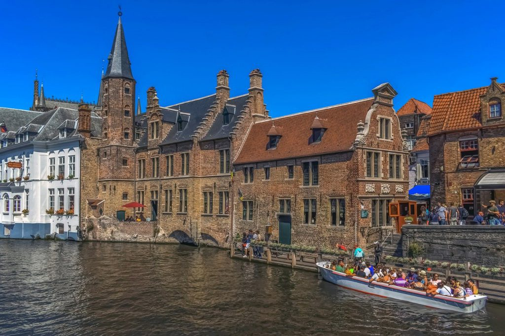 Brugge, Belgium Is a city on the coast of the channel tunnel