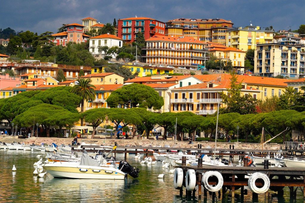 Fishing at The Coastal Town Lerici, Italy
