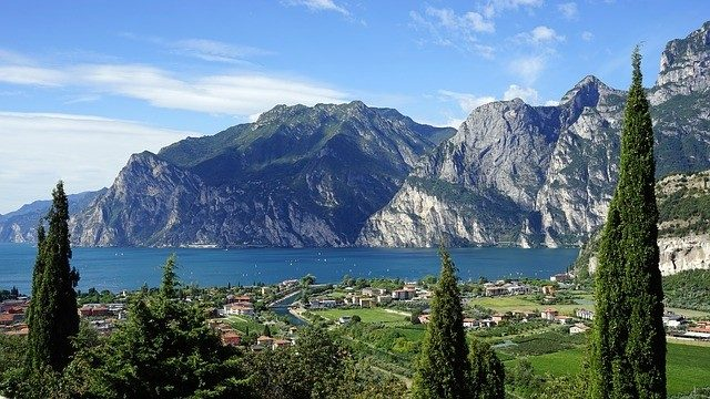 Lakeside Camping Destination In Brione Campsite, Lake Garda, Italy
