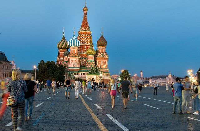 Moscow's Red Square with tourists