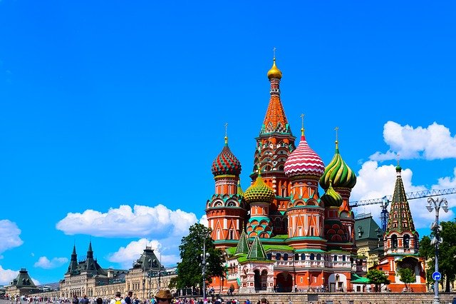 The Famous Saint Basil's Cathedral at the heart of Moscow